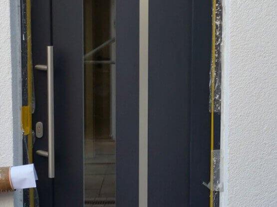 kunststoff glas haust r in wei fenster t renbau nachtwey. Black Bedroom Furniture Sets. Home Design Ideas