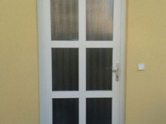 Kunststoff – Glas Haustür in weiß