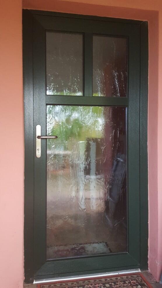 Tür mit Sprosse Glas Altdeutsch K